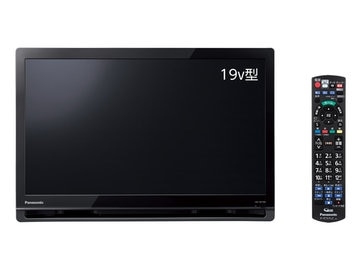 Panasonic ポータブルデジタルテレビ 19V型 (ブラック) UN-19F10-K