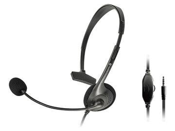 GOPPA 3極/4極ミニプラグ搭載 片耳ヘッドセット GP-HS14/B