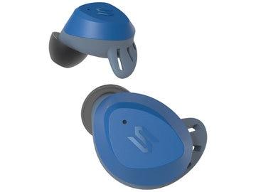 完全ワイヤレススポーツイヤホン TWS S-Fit Blue 外音取込 防水防塵