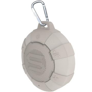 超防水ポータブルワイヤレススピーカー S-STORM Beige IP68 水に浮かべても使える 5W マイク付き ホームオフィスにも最適