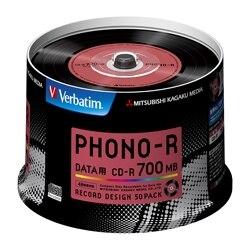 三菱電機 CD-R 700MB 48倍速対応 50枚 PHONO-R SR80PH50V1