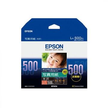EPSON 写真用紙 光沢 (L判/500枚) KL500PSKR