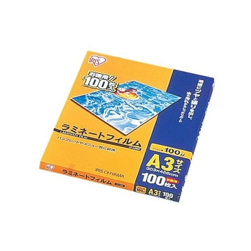 アイリス ラミネートフィルム 100μ(A3)/1箱100枚入 LZ-A3100