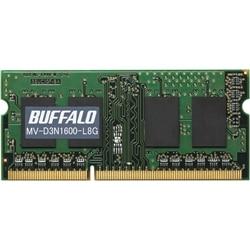 BUFFALO D3N1600相当 法人向白箱6年 SODIMM 8GB LV MV-D3N1600-L8G