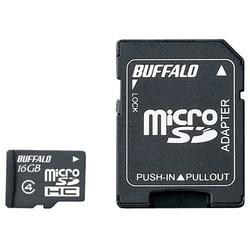 バッファロー 防水 Class4 microSDHCカード SDアダプター 16GB RMSD-BS16GAB