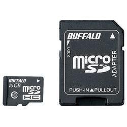 バッファロー Class10 microSDHCカード SDアダプター 16GB RMSD-16GC10AB