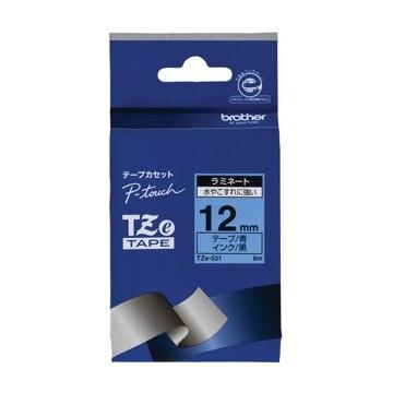 ブラザー ラミネートテープ(青地/黒字) 12mm TZe-531