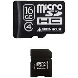 48%OFF!<ひかりTV> microSDHCカード(アダプタ付属) 16GB Class4 GH-SDMRHC16G4画像