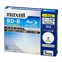 maxell 4Xデータ用BD-R25GB5枚プリント対応ホワイト BR25PPLWPB.5S