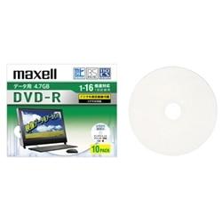 maxell 16Xデータ用CPRM対応DVD-R4.7GB10枚プリントホワイト DRD47WPD.10S