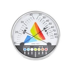 ドリテック 熱中症・インフルエンザ警告温湿度計 (ホワイト) O-311WT