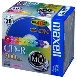 maxell データ用48倍速対応CD-R.容量700MB.色MIX 20P CDR700S.MIX1P20S