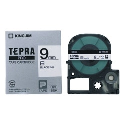 キングジム 「テプラ」PRO 白ラベル 黒字 9mm SS9K