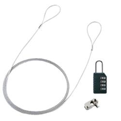 SANWASUPPLY パソコンセキュリティワイヤーロック(ダイヤル錠タイプ) SL-58