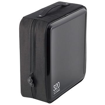 エレコム CD/DVDケース/セミハード/ファスナー付/320枚入/ブラック CCD-H320BK