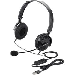 BUFFALO 両耳ヘッドセット USB接続/折りたたみ ブラック BSHSUH13BK