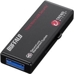 BUFFALO USB3.0 セキュリティーUSBメモリー ウイルスチェック 5年 4GB RUF3-HS4GTV5