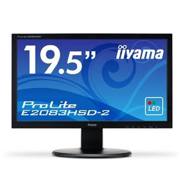 iiyama 19.5型ワイド液晶ディスプレイ E2083HSD-2 ブラック E2083HSD-B2