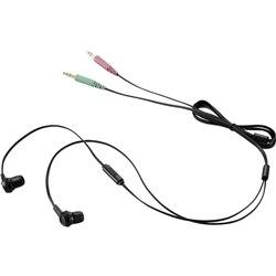 エレコム ヘッドセット/両耳カナルイヤホン/1.3m/ブラック HS-EP12BK