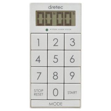 ドリテック デジタルタイマー 「スリムキューブ」 (ホワイト) T-520WT