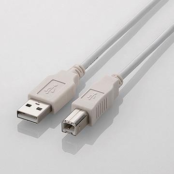 エレコム USB2.0ケーブル/A-B/ノーマル/2m/ホワイト U2C-BN20WH