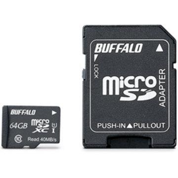 BUFFALO UHS-I Class1 microSDXCカード 64GB RMSD-064GU1SA