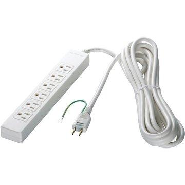 バッファロー 3ピン式電源タップ 6個口 2m ホワイト BSTAPST3620WH