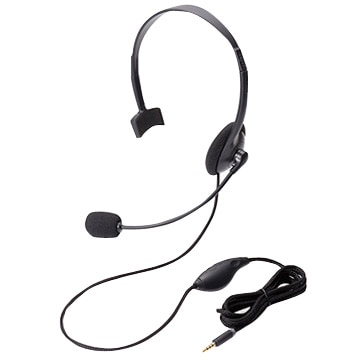 ELECOM 4極ヘッドセットマイク/片耳/オーバーヘッド/ブラック HS-HP21TBK