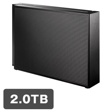 IODATA USB3.0/2.0対応 外付HDD 2TB ブラック EX-HD2CZ