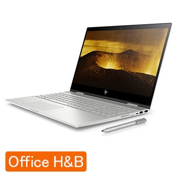 HP ENVY x360 15-cn(15.6型/i7-8500U/メモリ 8GB/SSD 256GB+HDD 1TB/Office有)