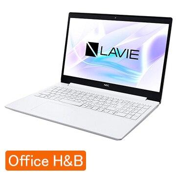 NEC (オフィス付)LAVIE Smart NS Corei3 8GB SSD256GB カームホワイト PC-SN212JFDF-D