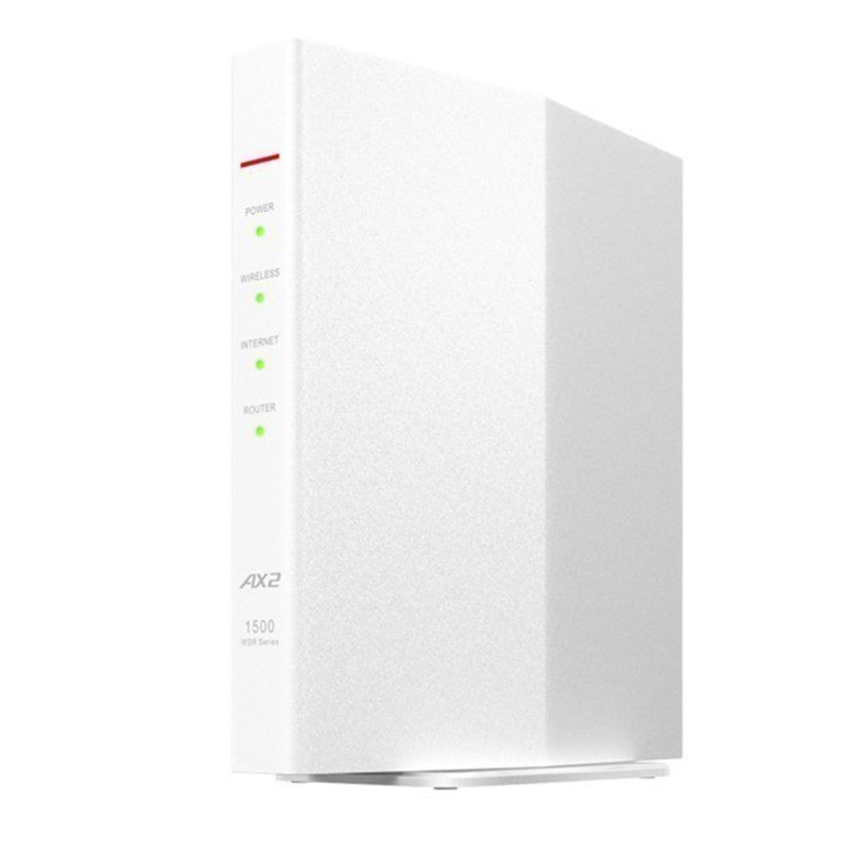 BUFFALO 無線LAN親機11ax/ac/n/a/g/b 1201+300Mbps WSR-1500AX2S/DWH