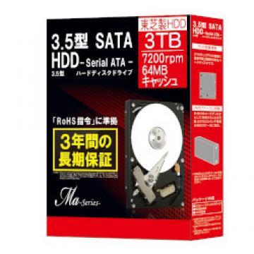 4%OFF!<ひかりTV>【送料無料】SATA HDD Ma Series 3.5インチ 3TB DT01ACA300BOX画像
