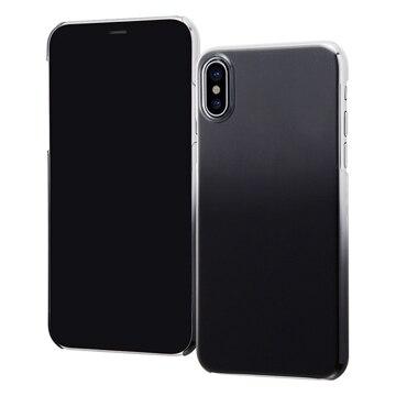 【ポイント2倍】レイアウト iPhone X ハードケース 極薄/クリアブラック RT-P16TC2/BM